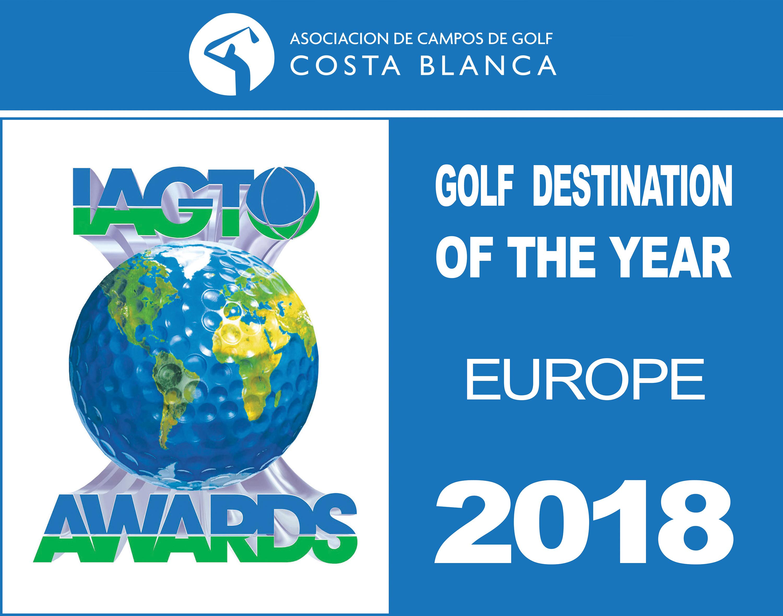 Destino europeo de golf del año, golf costa blanca, asociacion